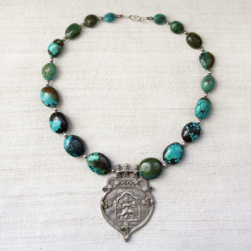 Turquoise indian necklace by Kronbali