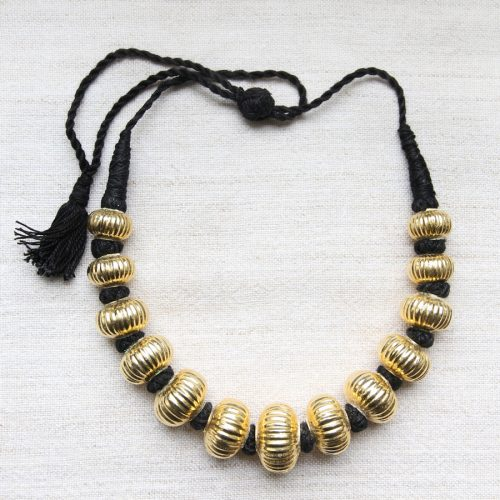 Indian silver gold necklace by Kronbali