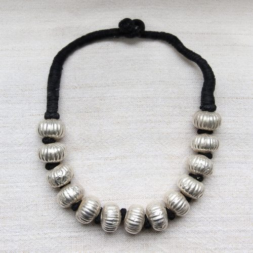 Indian silver necklace by Kronbali